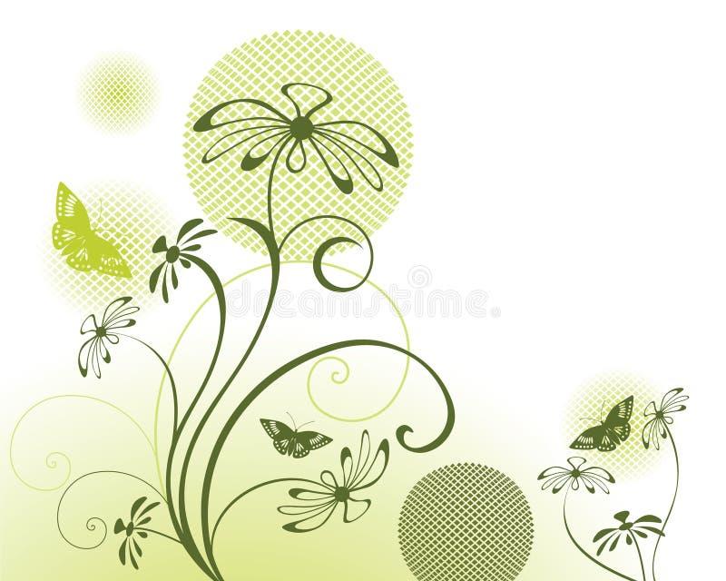 Vlinders met bloemenontwerp vector illustratie