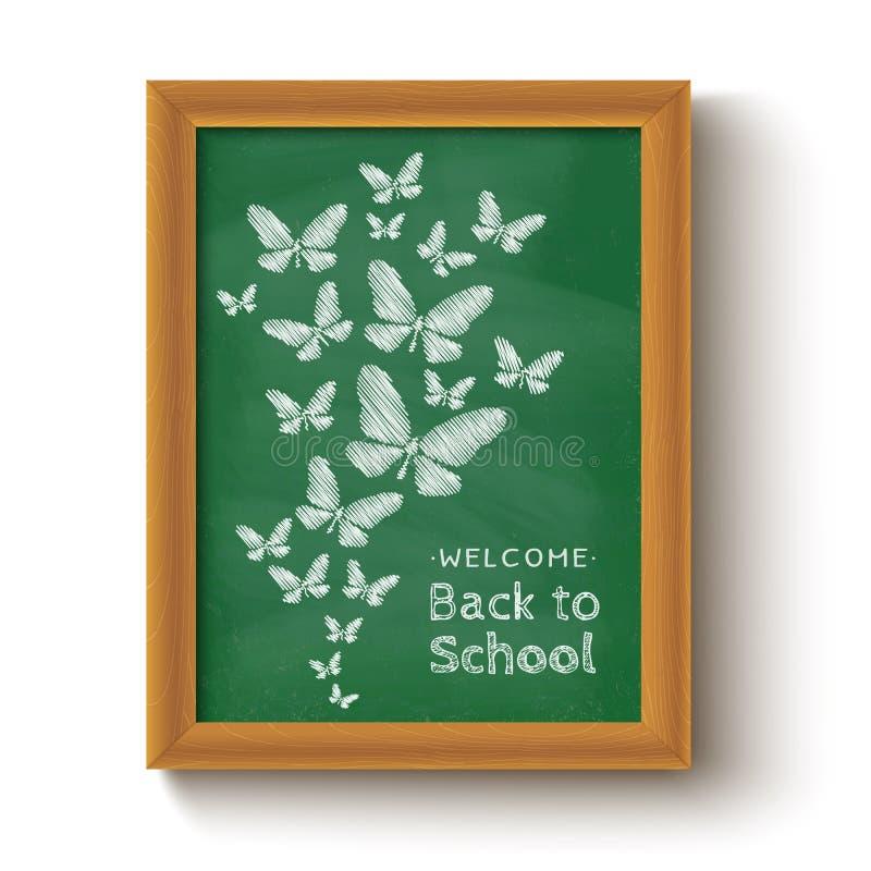 Vlinders op bord vector illustratie