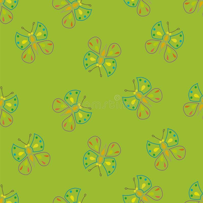 Vlinders op groen vector illustratie
