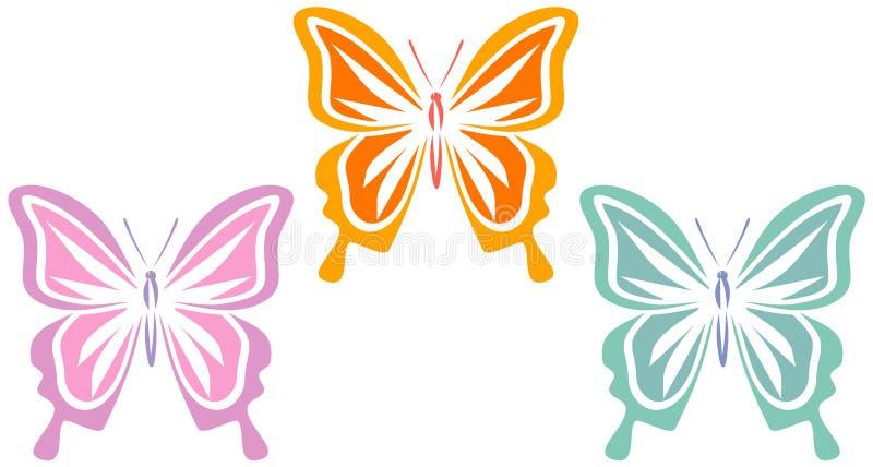 Vlinders (Vector) vector illustratie
