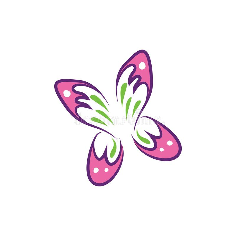 Vlindervlieg - Leuk Roze Mooi Aardsymbool stock illustratie