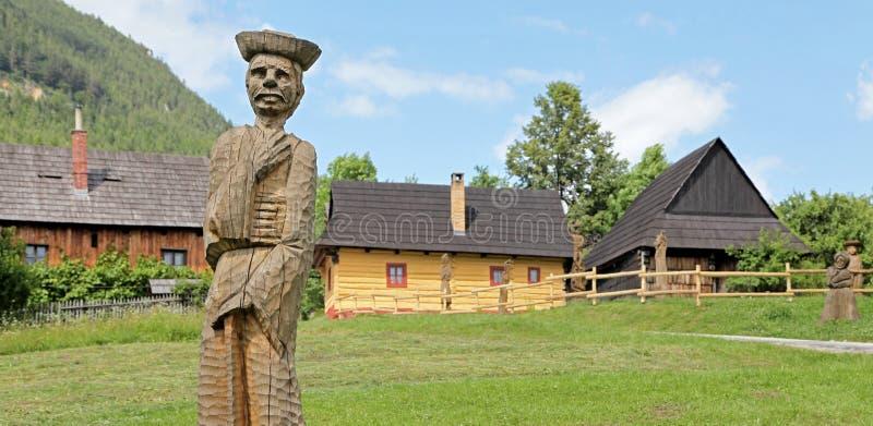 Vlkolinec - picturesque historical village, Slovak stock images