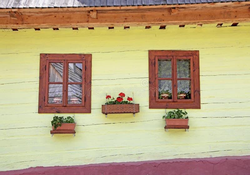 Vlkolinec - picturesque historical village, Slovak royalty free stock photography