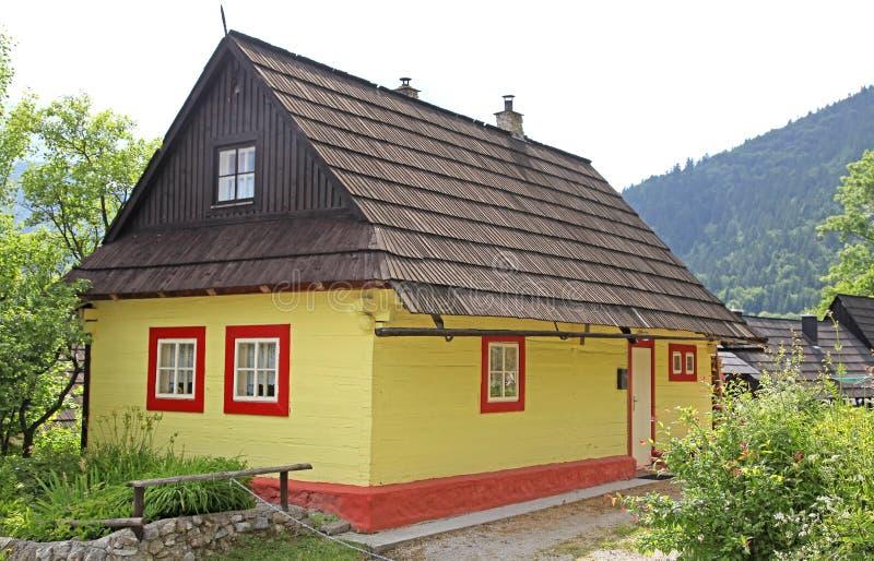 Vlkolinec - picturesque historical village, Slovak stock photo