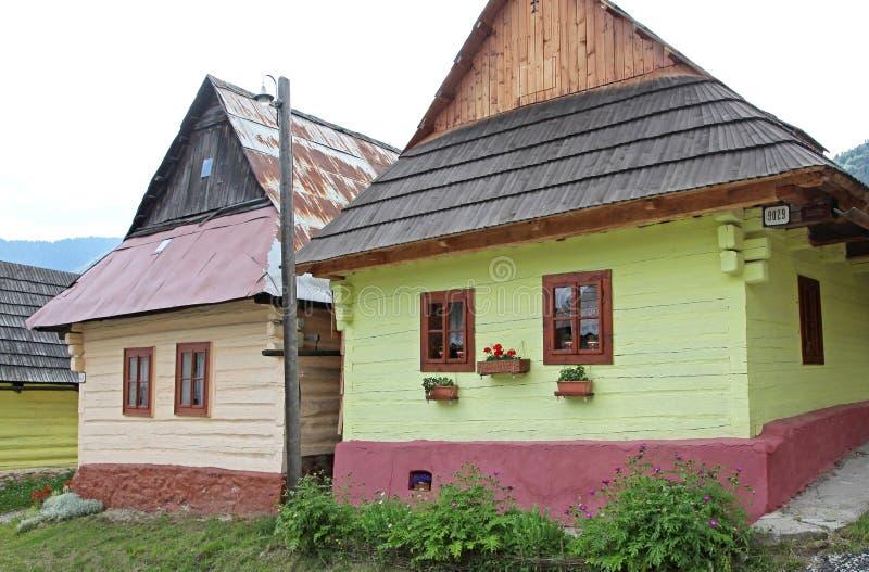 Vlkolinec - picturesque historical village, Slovak royalty free stock photos