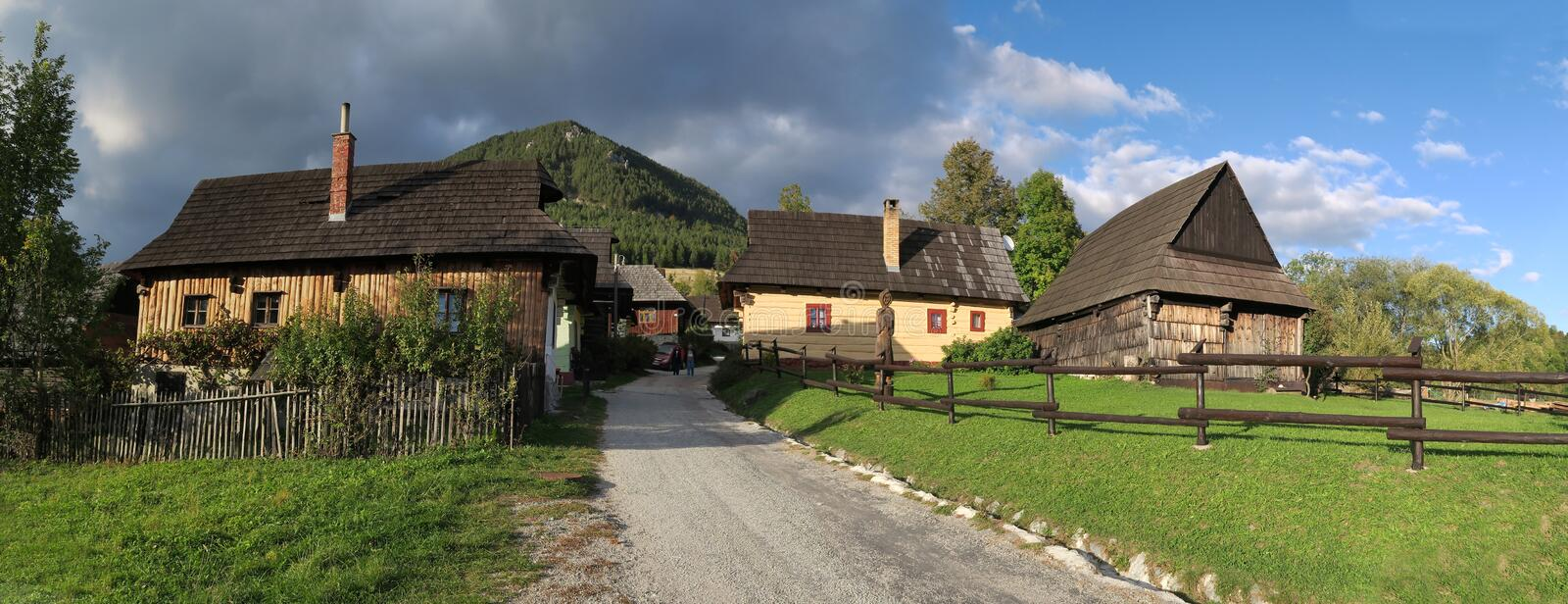 Vlkolinec - slovak village listed on UNESCO World Heritage list. Vlkolinec - slovak village in central Slovakia listed on UNESCO World Heritage list royalty free stock photo