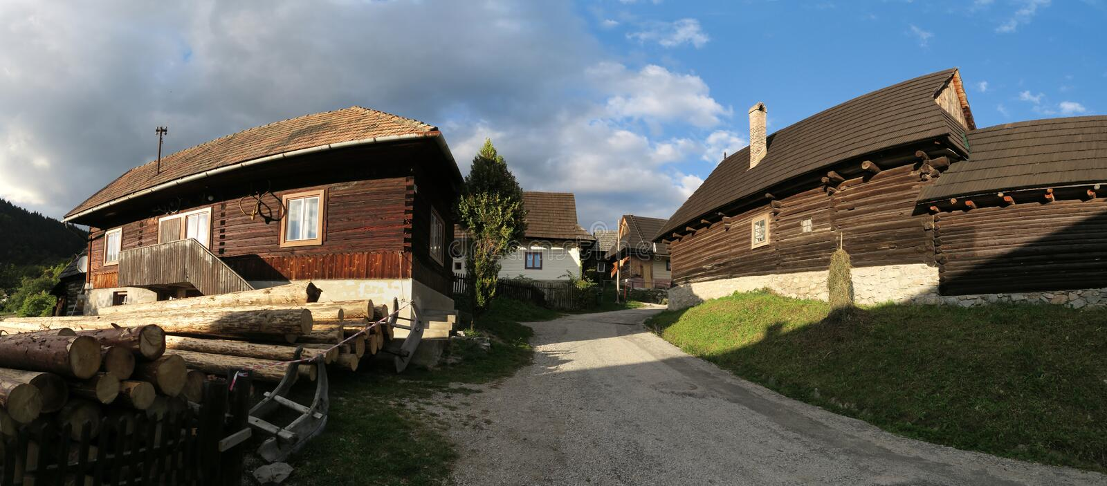Vlkolinec - slovak village listed on UNESCO World Heritage list. Vlkolinec - slovak village in central Slovakia listed on UNESCO World Heritage list stock photography