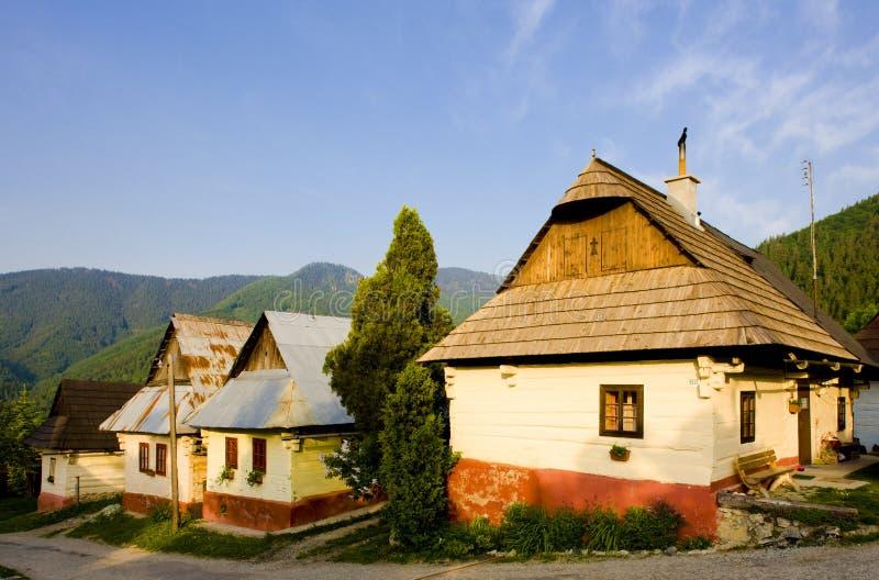 Vlkolinec, Slovaquie image stock