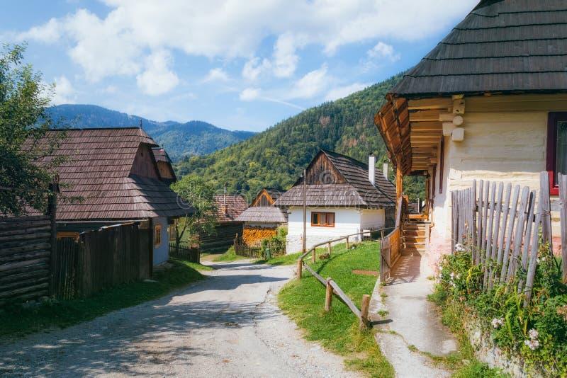 Vlkolinec, Slowakije royalty-vrije stock afbeeldingen