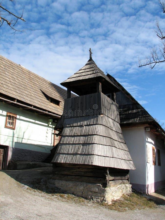 Vlkolinec in Slowakije stock foto