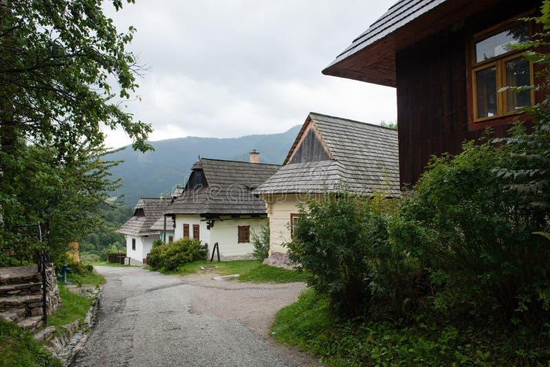 Vlkolinec, Slowakije - Unesco-de plaats van de Werelderfenis royalty-vrije stock afbeeldingen