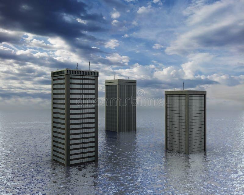 Vloed stock illustratie