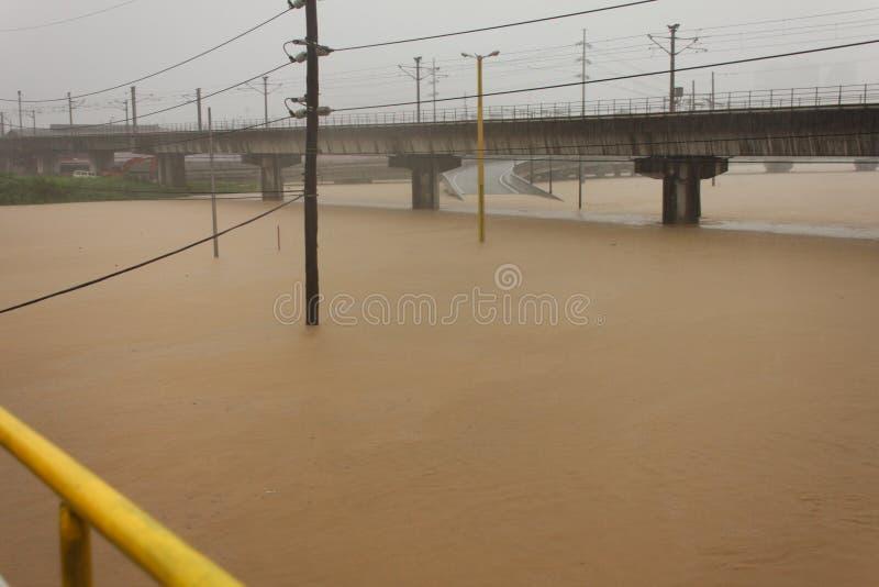 Vloed in Manilla, Filippijnen stock fotografie
