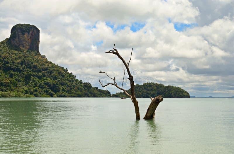 Vloed in Railey-Baai stock afbeeldingen