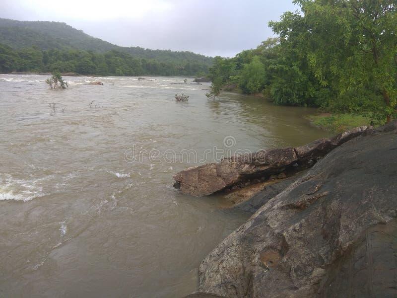 Vloed in rivier royalty-vrije stock foto's