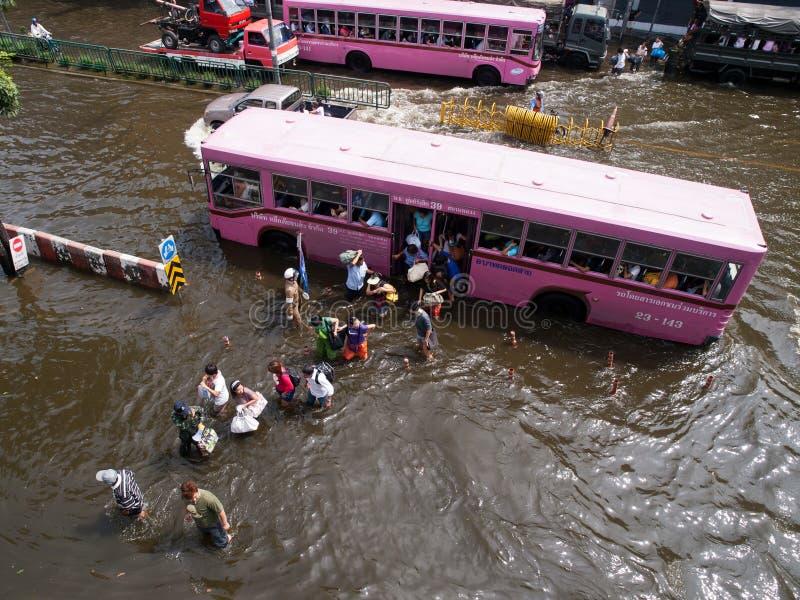 VLOED THAILAND 2011   royalty-vrije stock afbeeldingen