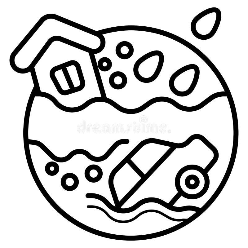 Vloed vectorpictogram royalty-vrije illustratie