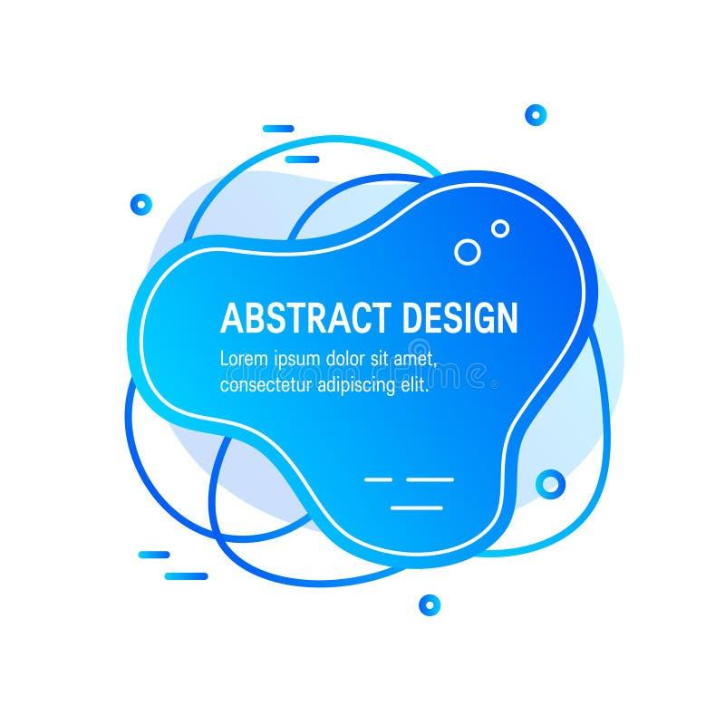 Vloeibaar vloeibaar abstract ontwerp in vlakke stijl stock illustratie