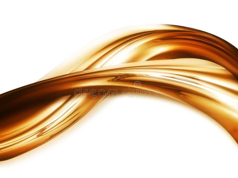Vloeibaar goud royalty-vrije stock afbeeldingen