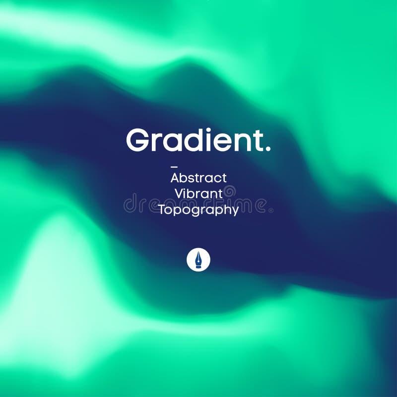 Vloeibaar gradi?ntontwerp als achtergrond Futuristisch vloeibaar abstract kleurrijk behang Eps 10 royalty-vrije illustratie