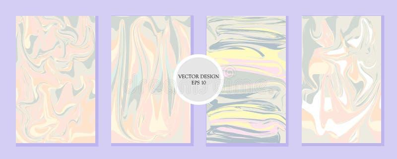 Vloeibaar marmeren textuurontwerp vector illustratie