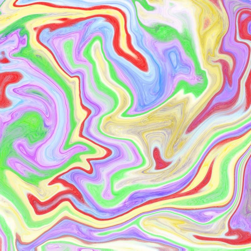 vloeibare abstracte achtergrond met olieverfschilderijstroken royalty-vrije illustratie