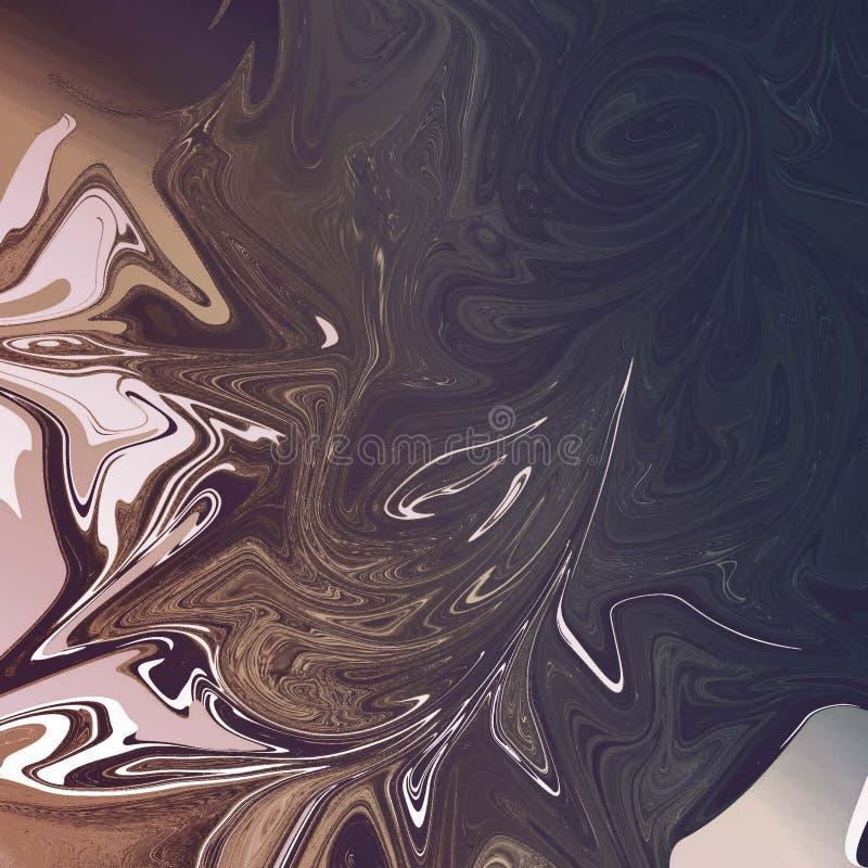 vloeibare abstracte achtergrond met olieverfschilderijstroken vector illustratie