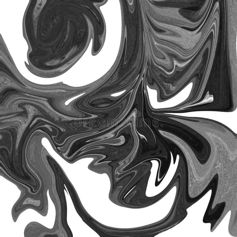 vloeibare abstracte achtergrond met olieverfschilderijstroken stock illustratie