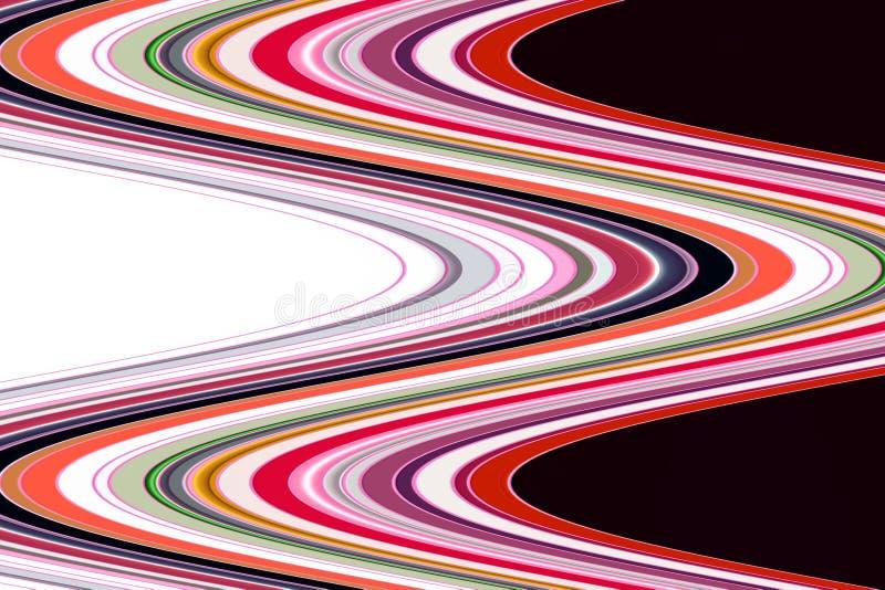 Vloeibare abstracte lijnenachtergrond, levendige vormen, meetkunde abstract patroon stock illustratie