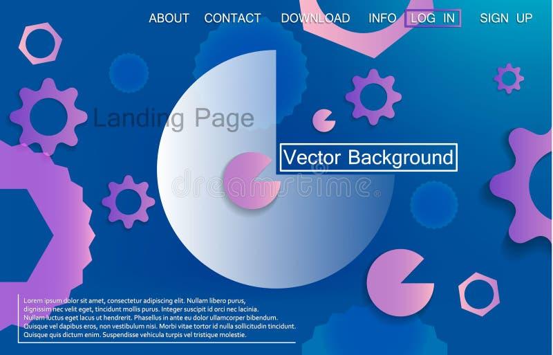 Vloeibare dynamische achtergrond voor bedrijfspresentatie, landingspagina's of affiches royalty-vrije illustratie