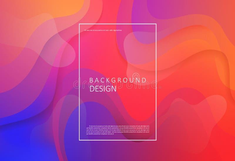 Vloeibare gradiëntachtergrond stock illustratie