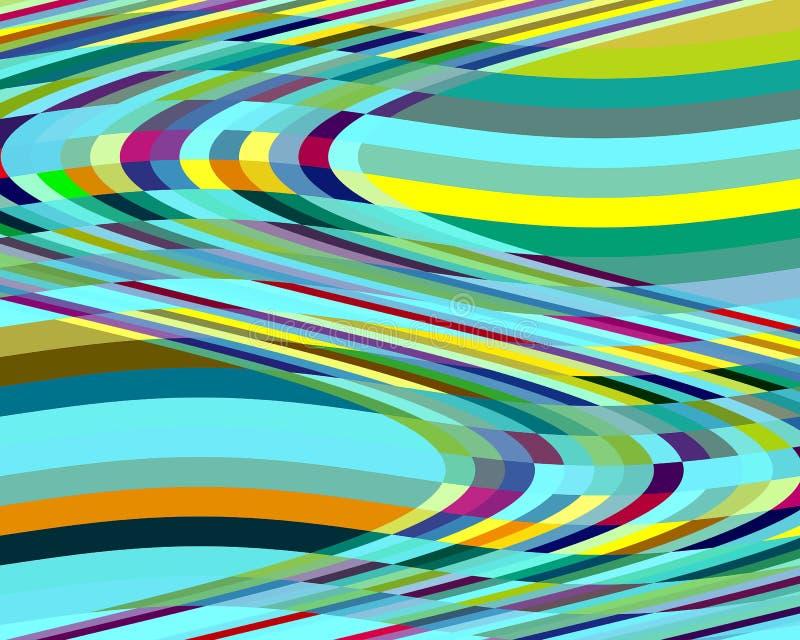 Vloeibare groene gele meetkunde kleurrijke levendige heldere abstracte achtergrond royalty-vrije illustratie