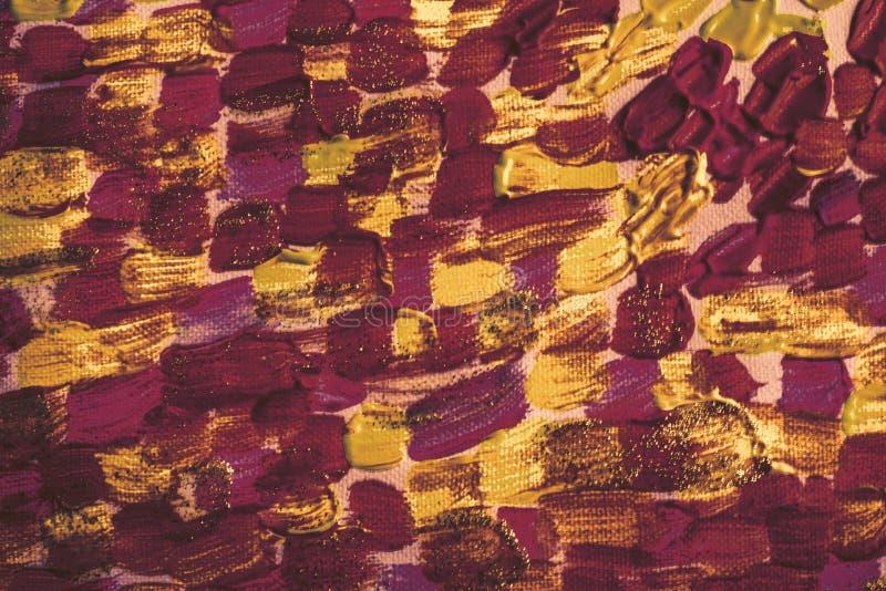 Vloeibare kleurenmonsters Dikke geschilderde rustieke canvasraad Contrast digitaal document Hand geschilderde kunst voor malplaat stock afbeeldingen