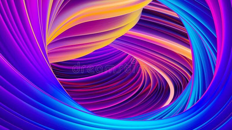 Vloeibare stroom abstracte holografische ultraviolette neonachtergrond voor Kerstmisontwerp vector illustratie