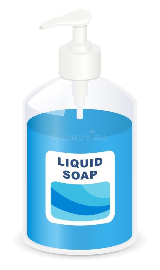 Vloeibare zeep vector illustratie
