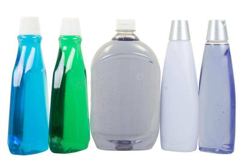 Vloeibare Zeep en Shampoo royalty-vrije stock foto's