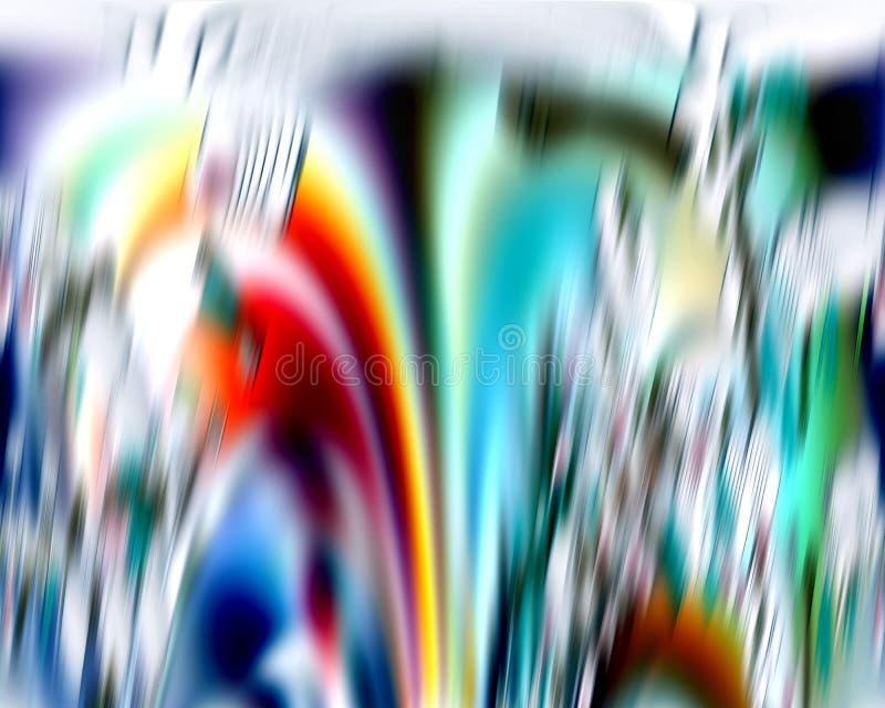 Vloeibare zilveren rozerode witte blauwe kleurrijke golvenvormen, contrast abstracte achtergrond royalty-vrije stock foto's
