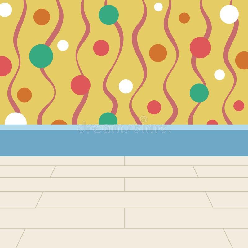 Vloer en Muur Achtergrond Kleurrijk Vlekkenbehang stock illustratie