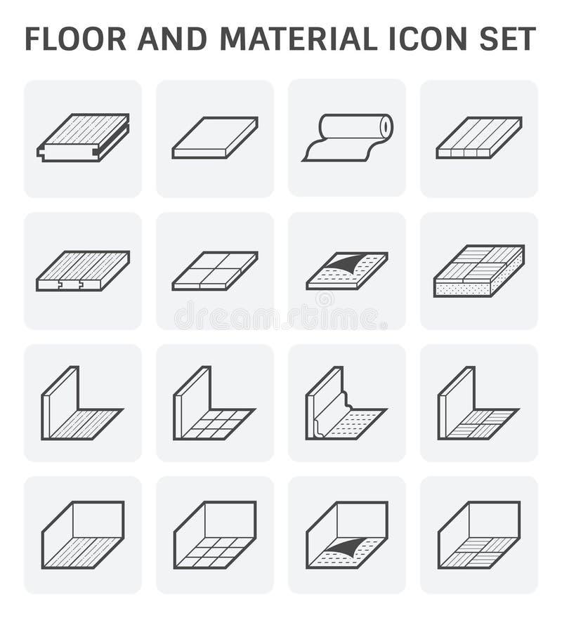 Vloer materieel pictogram stock illustratie