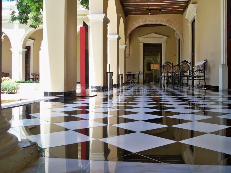 Vloer van één van de Herenhuizen in Montejo-Weg, Merida, Yucatà ¡ n stock afbeeldingen
