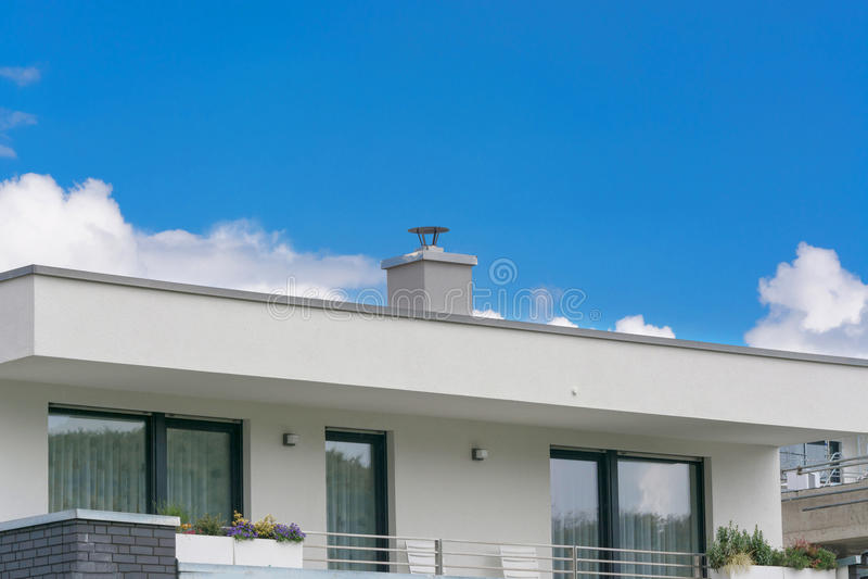 Vloer van een moderne woningbouw stock foto