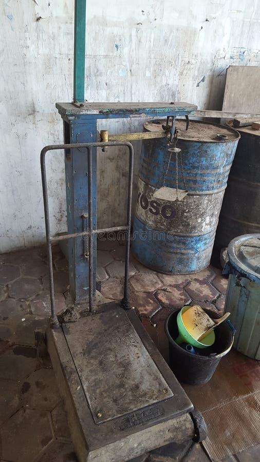 Vloerschalen, één van de meetinstrumenten voor het kennen van het gewicht voorwerpen boven 50kg stock afbeelding