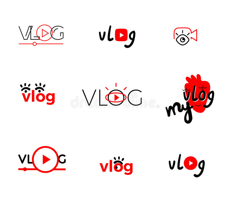 Vlog or video illustration royalty free stock photos
