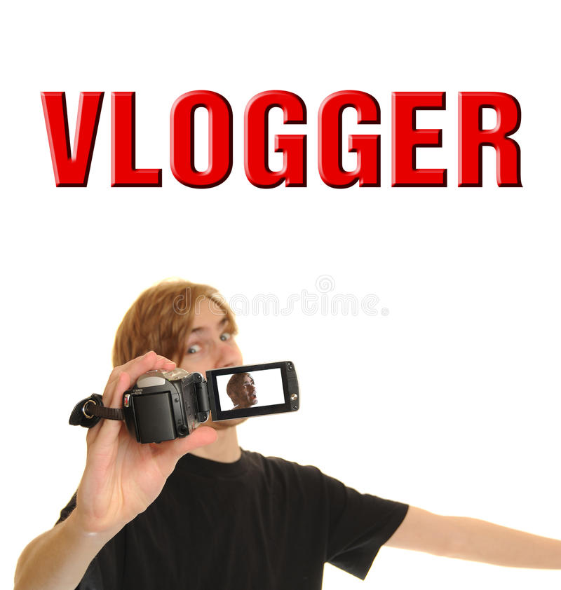 Vlogger royalty free stock photos