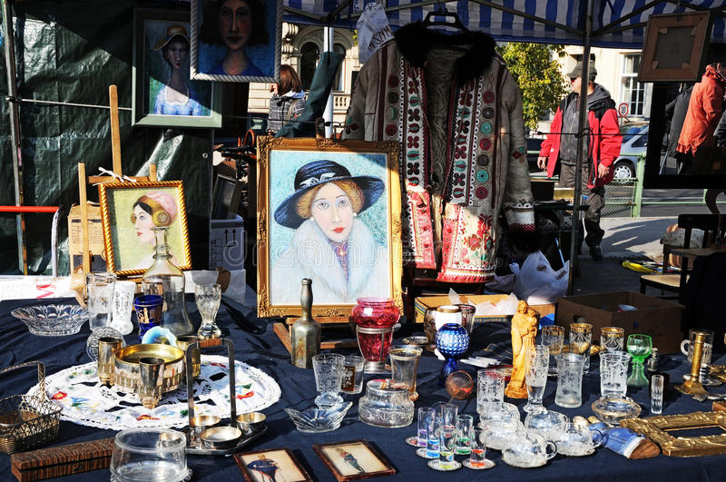 Vlooienmarkt stock foto's