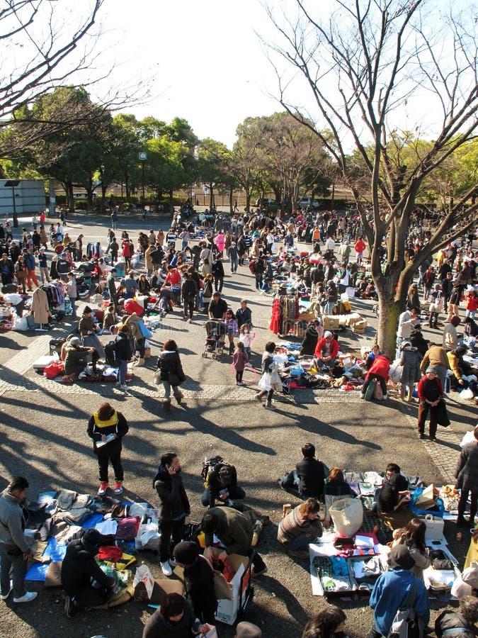 Vlooienmarkt in Harajuku Japan royalty-vrije stock afbeeldingen
