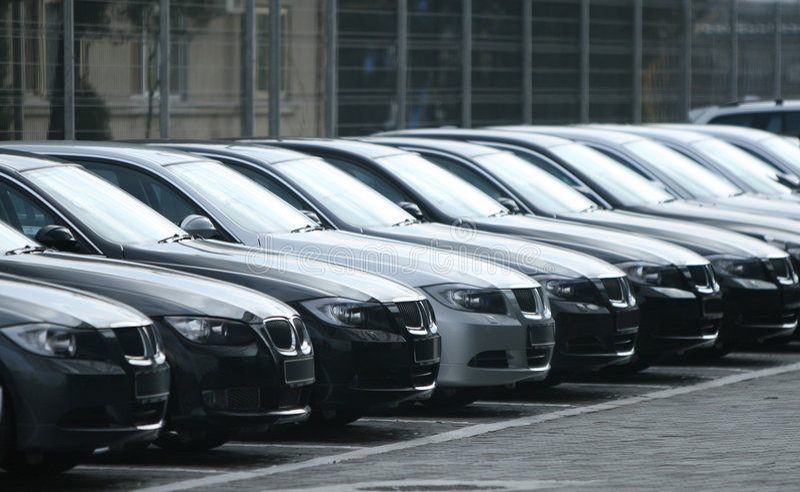 Vloot van auto's royalty-vrije stock fotografie
