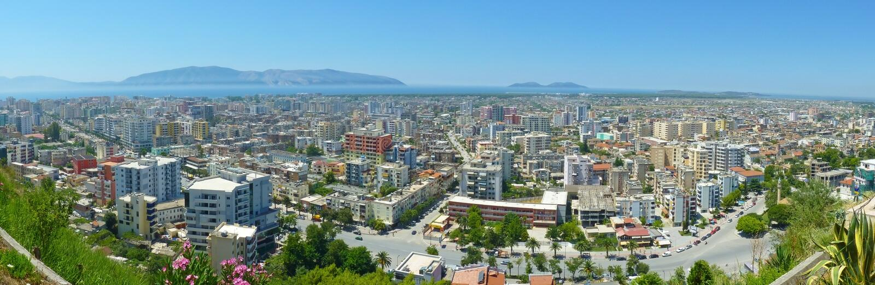 Vlorë - Albanië royalty-vrije stock foto's