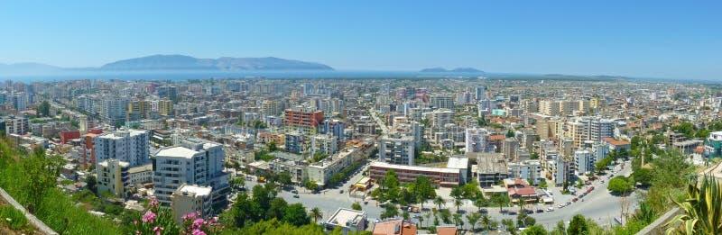 Vlorë - Albania. Panorama of Vlore in Albania royalty free stock photos