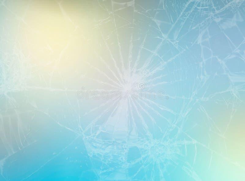 Vlotte abstracte gradiëntachtergrond met blauwe gele witte kleuren digitale grafische banner het effect van gebroken glas royalty-vrije stock foto